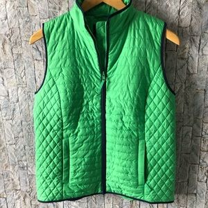 TALBOTS Green Quilted Vest